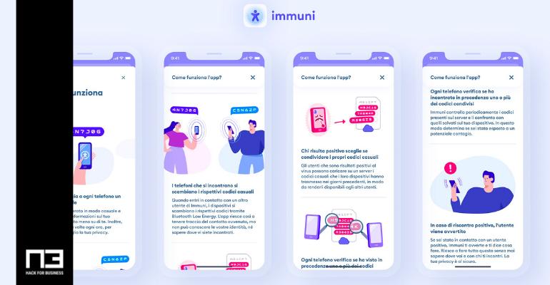 App Immuni - screenshot